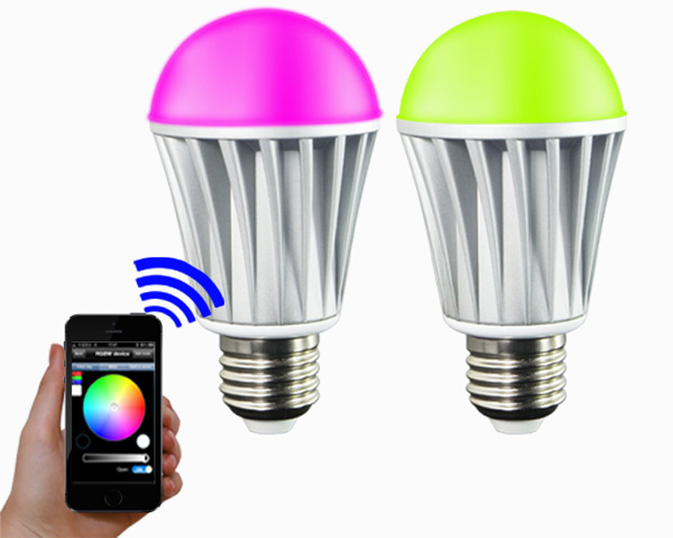 Free shipping!!! 7W bluetooth bulbs/ intelligent bulbs/ Smart bulbs/lamps suitable for the android& apple system(China (Mainland))