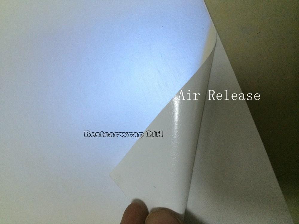 Blue-white pearl matte vinyl car wrap film satin pearl car stickers (10)