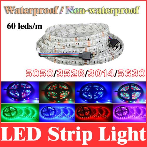 led strip light 5m 300 leds waterproof/no waterproof 5050/3528/3014/5630 60led/m rgb/red/green/blue/white/warm white/yellow RS01(China (Mainland))