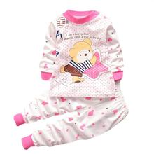 Amazing Spring Autumn Cartoon Cotton Newborn Infant Baby Girls Boys Sleep Sets Suits Sleepwear for 0-2 Years Old Baby(China (Mainland))
