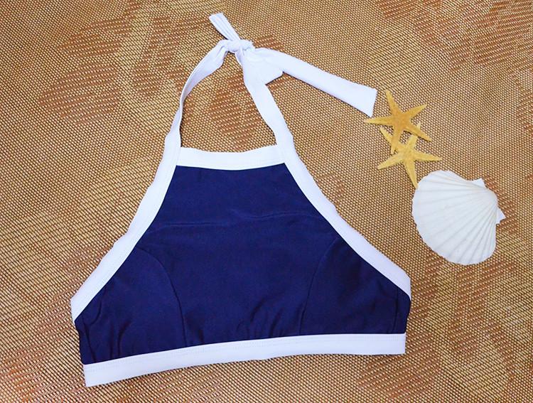 Conjunto de biquini 2016 estilo verão sensual triangular gola alta tamanho grande maiô feminino roupa de banho