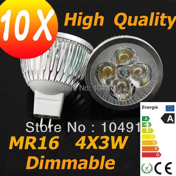 10X Factory Sales High Qualtiy 12W MR16 4X3W CREE LED DOWNLIGHT ENERGY SAVING LIGHT BULB LAMP Spotlight low price(China (Mainland))
