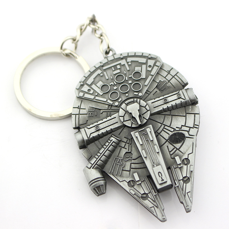 New Hot Star Wars Spacecraft 5 kinds alloy silver metal keychain pendant , Key Chains star wars ship for men Free Shipping(China (Mainland))