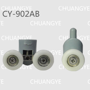 8pcs Shower room accessories shower cabin pulley bathroom pulley old fashioned pulley 22mm 25mm diameter(China (Mainland))