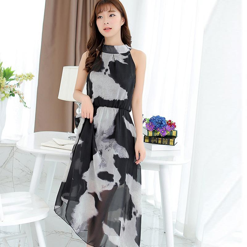 Women's beach dress summer new large size Slim temperament chiffon dress factory direct female loose(China (Mainland))