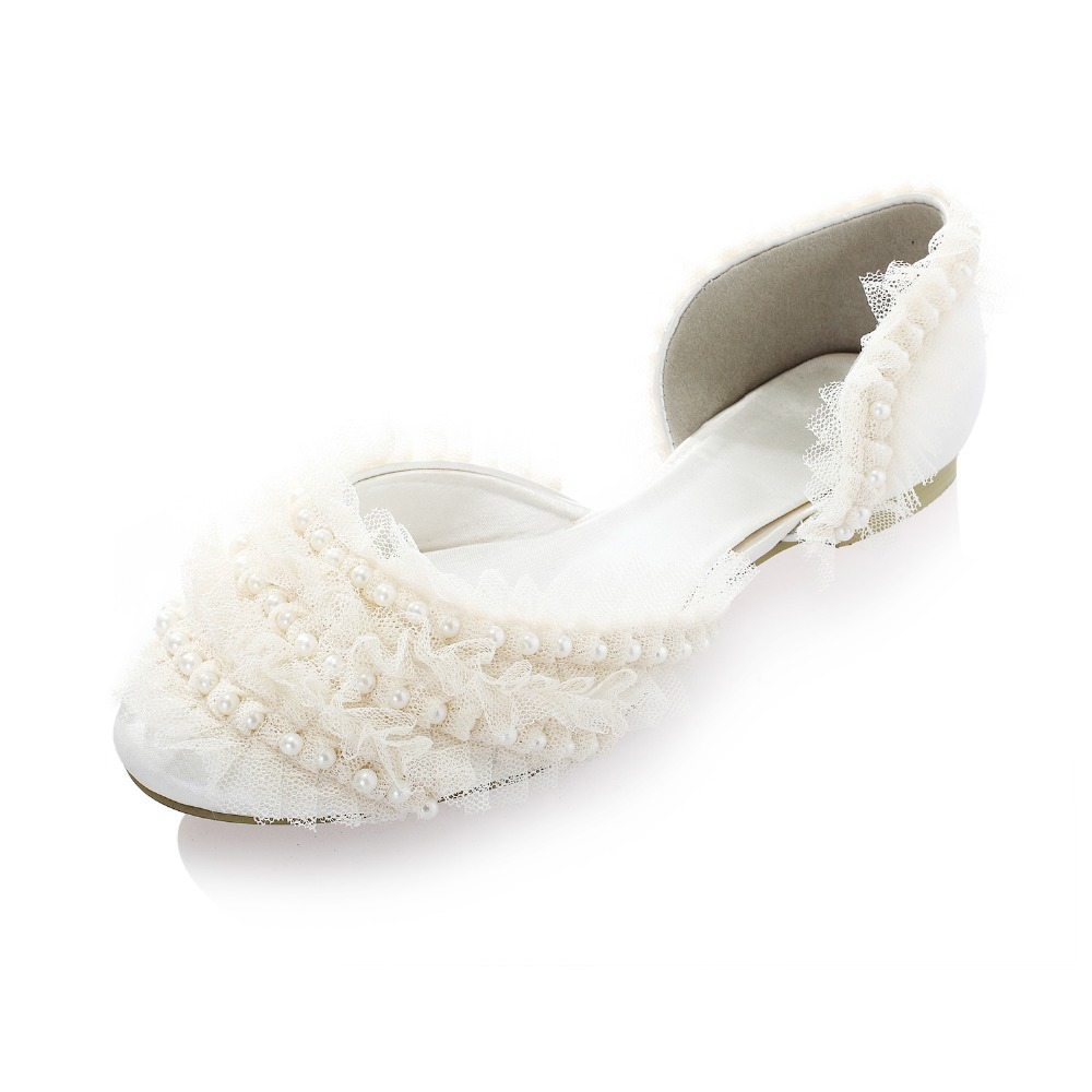 Casual And Chic Ivory TOMS Wedding Shoes Wedge Peep Toes And Flat Closed Toe Bridal Shoes