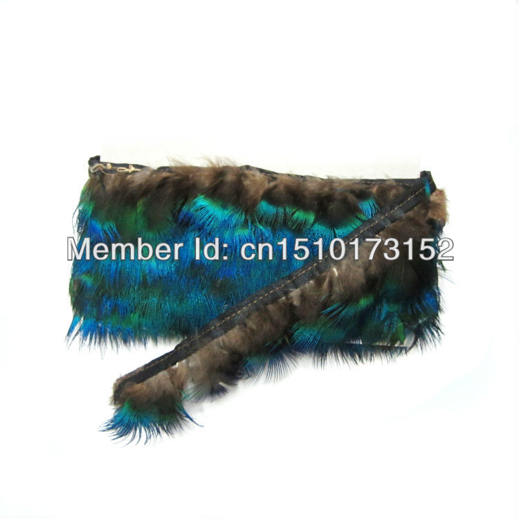 1Yard/lot Natural Beautiful Peacock Feathers Ribbon 2-3inches/5-8cm Craftings BB5-3  -  TiTi Feather Market store