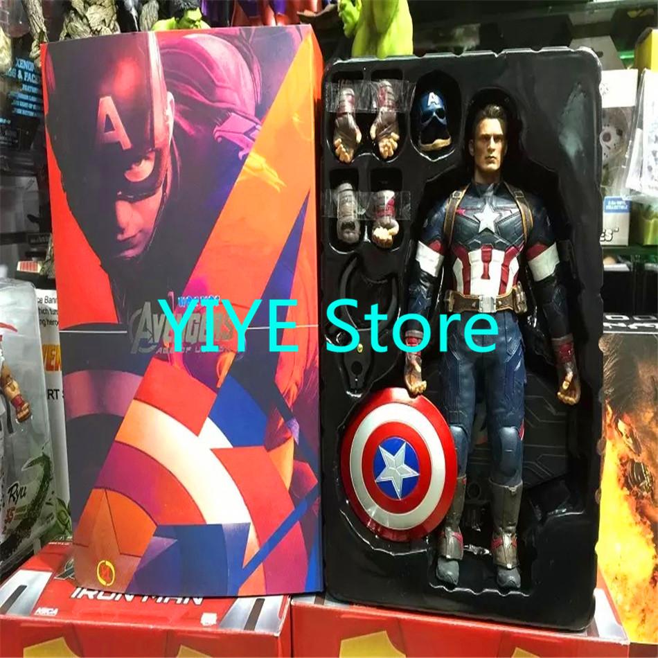 1pcs/set Captain America Avengers Action Figures Change Hand Hot Toys Super Hero Marvel Iron Man Marvel's 12'' Model Toys Gifts(China (Mainland))