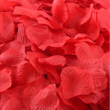 Artificial Silk Rose Petals Flowers Petals Wedding Supplies Favor Party Decoration Weddings Accessories 1000pcs Free Shipping(China (Mainland))