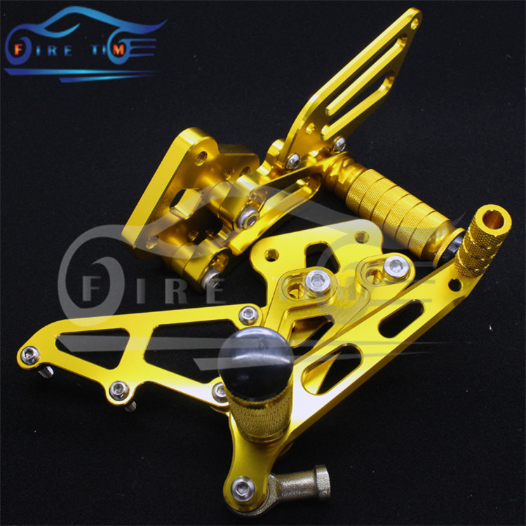 free shipping Rearset Rear Set CNC Foot Pegs Rest Footrest  3 colors For Motorbike KAWA.SAKI ZX6R ZX-6R 09 101112 Wholesale  C20<br><br>Aliexpress