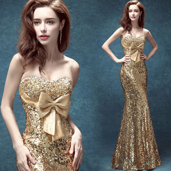 Quality cheap formal party dresses luxury sequins in evening dresses