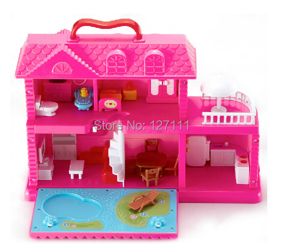 New girl Assemble dream house  toy/play house  villa doll house educational toys children christmas giftgift with light sound<br><br>Aliexpress