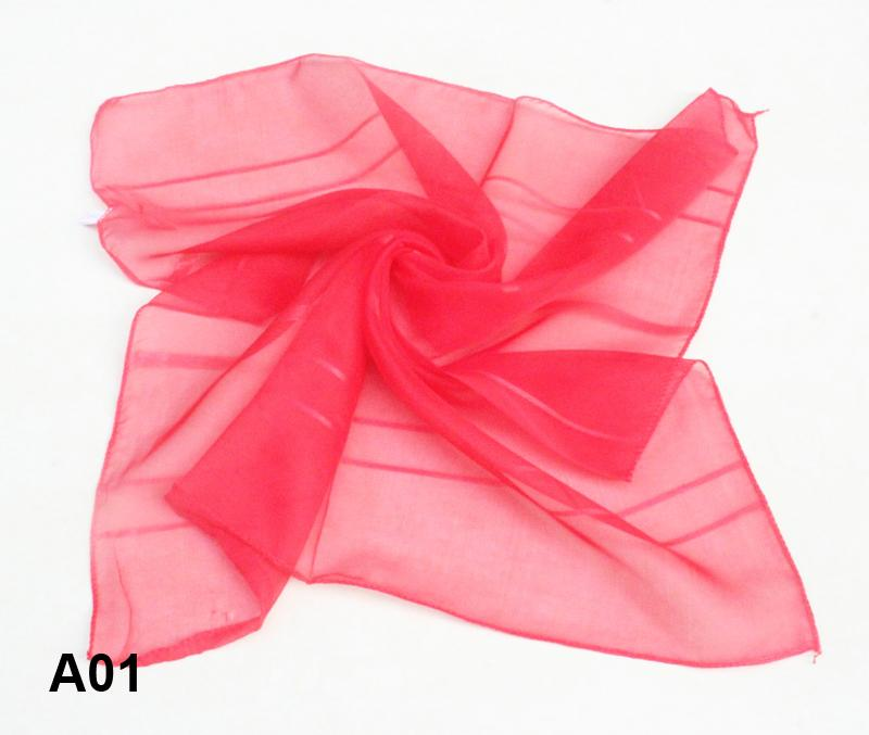 wholesale fashion romantic monochromatic red square scarf Silk Scarves neckpiece scarf A01 TZH(China (Mainland))