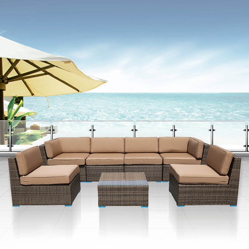 ACTIONCLUB 7pcs/Set Outdoor Furniture Sofa Sets Home&Garden Water Proof Rattan / Wicker Sofa Set With Table (Fedex & 2-7 Days)(China (Mainland))