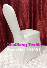 High Quality 100pcs Universal White Spandex Wedding Lycra Chair Covers for Wedding Banquet Hotel Decoration ,Hot Sale Wholesale(China (Mainland))