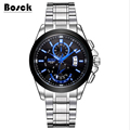 BOSCK 3116 stainless steel men s watches leisure fashion luminous waterproof watch relojes hombre marcas famosas
