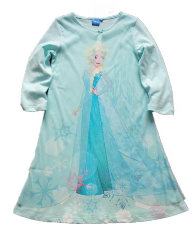 Free Shipping 2016 New Arrival 6pcs/lot 4-14yrs Little Girls Snow Queen Elsa Combed Cotton Nightgowns<br><br>Aliexpress