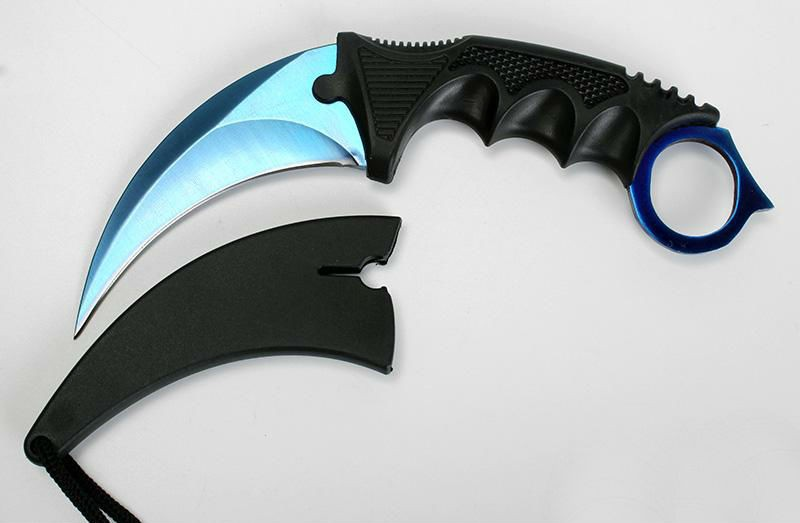 Buy CSGO Counter Strike Karambit Knife Fixed Blade Knife tactical survival camping Hunting knives Real game Knifes CS01 cheap