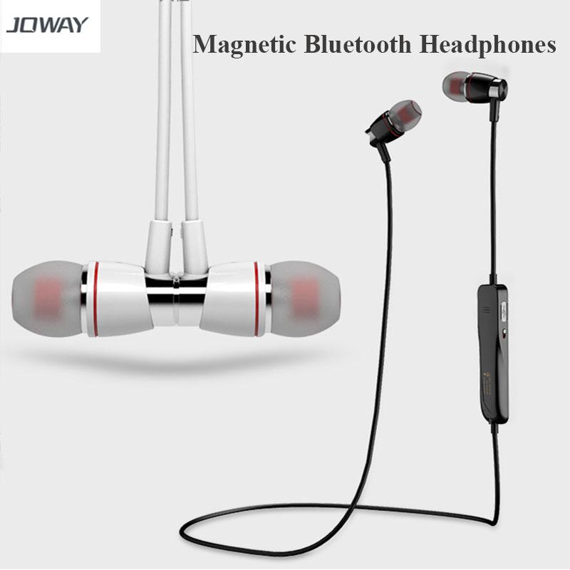 Joway H08 Bluetooth Headset Magnetic font b Wireless b font Sport Bluetooth Headphone Earphone with Mic