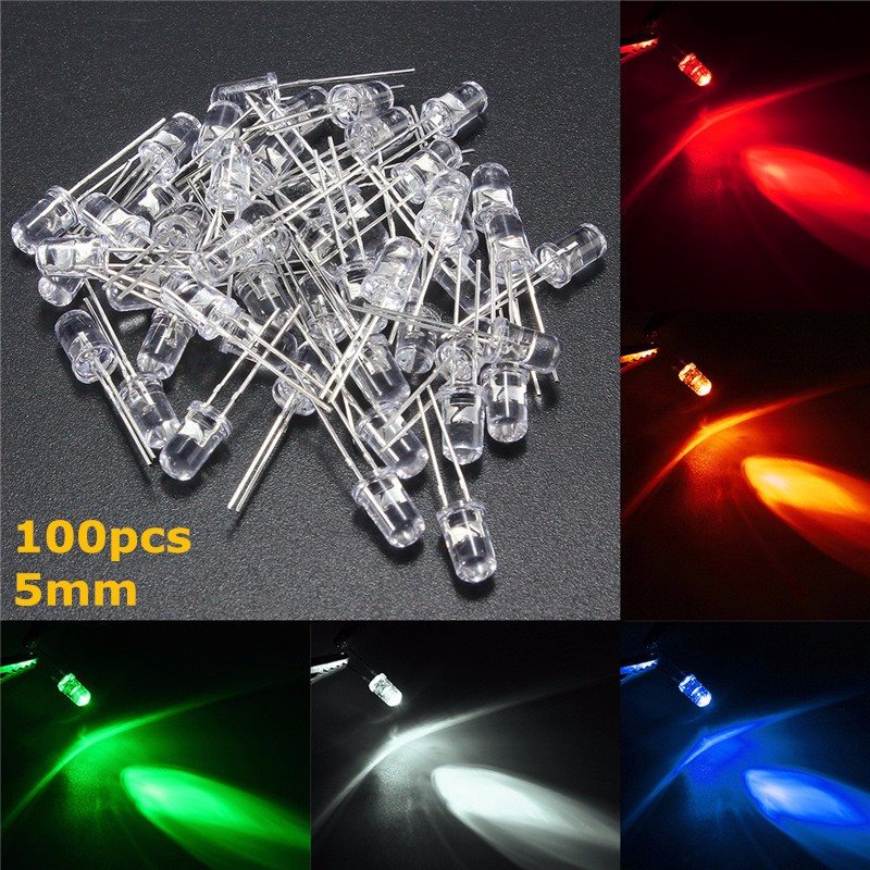 Ten HIGH QUALITY ROUND LED WHITE COLOR 5mm Lot of 10