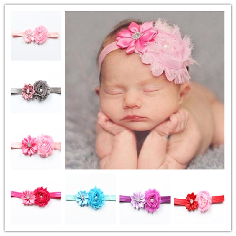 Free shipping Retail Infant satin flower headband Babies girls hairband Toddler Baby girl's Felt Flower headbands A5(China (Mainland))