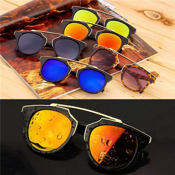 Солнцезащитные очки новинка полиэтиленовой пленкой металла кошка очки , старинные женщины мужчины модной покрытие солнцезащитных очков gafas lentes-де-сол