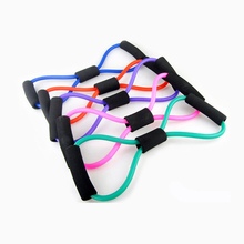 3PCS Resistance Bands Rope Tube Workout Exercise For Yoga 8 Type Fashion Body Fitness Suspension Trainer Gym Equipment