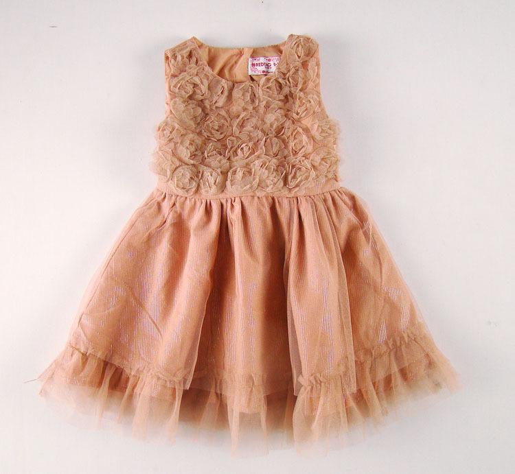 Summer Infant Dress Rose With Gold Line Baby Girls Dress ...