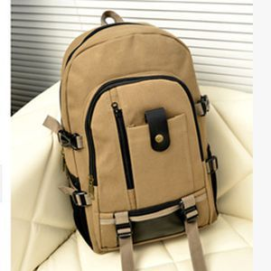 2015 new male casual backpacks Korean men's versatile canvas shoulder bags school packbag travel bag wholesale price WXY017(China (Mainland))