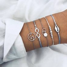 2019 Bohemian Bracelets & Bangles Set Vintage Bead Boho Charm Bracelet For Women Jewelry Accessories Pulseras Mujer Bijoux Femme(China)