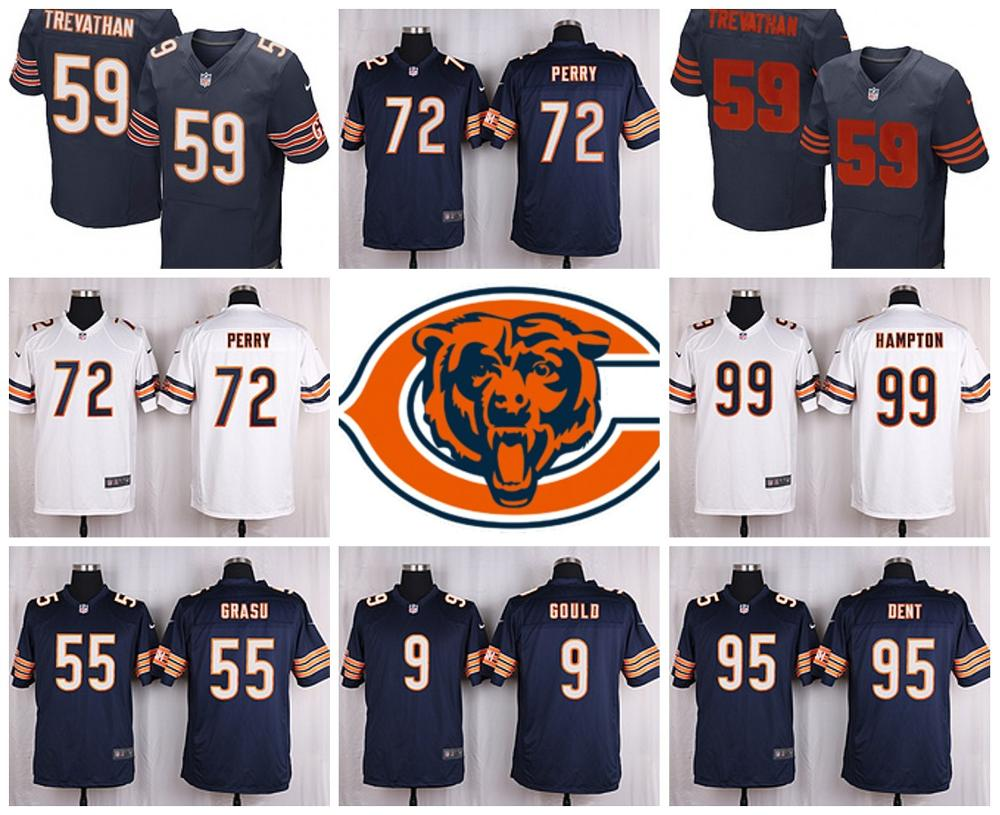 Chicago Bears Drift Fashion II Elite TREVATHAN #59 URLACHER ROYAL PAYTON McCAHON HAMPTON GOULD FULLER FORTE(China (Mainland))