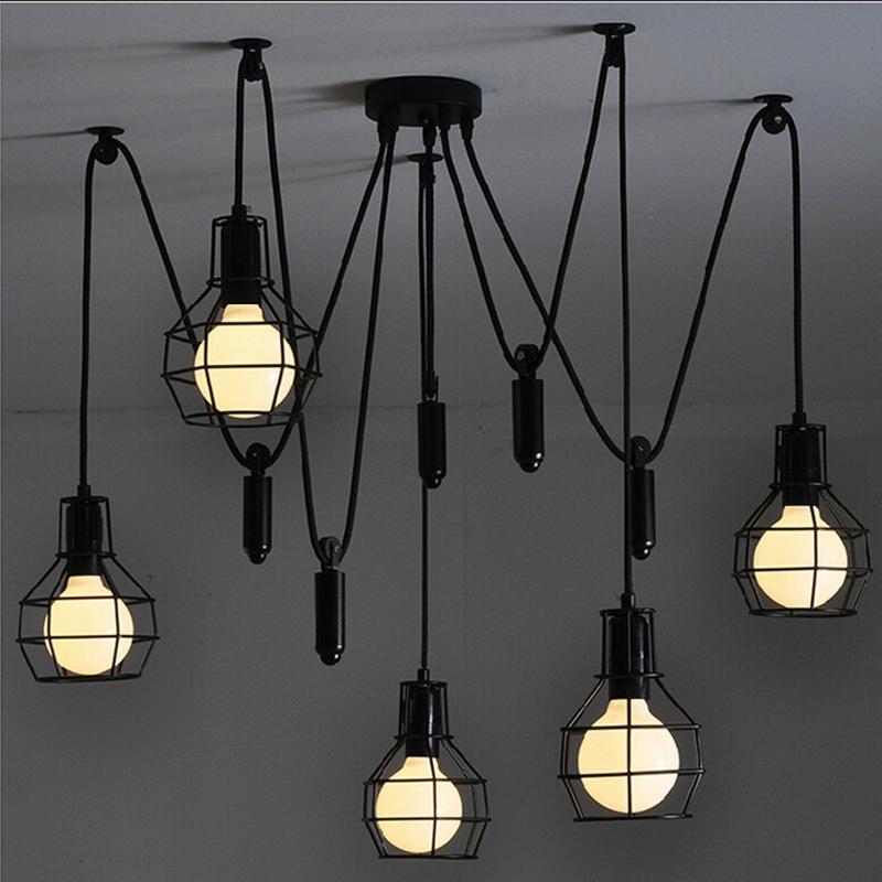 Vintage Pendant Lights E27 Industrial Retro Edison Lamps: Vintage Industrial Nordic Loft Edison Bulb Chandelier
