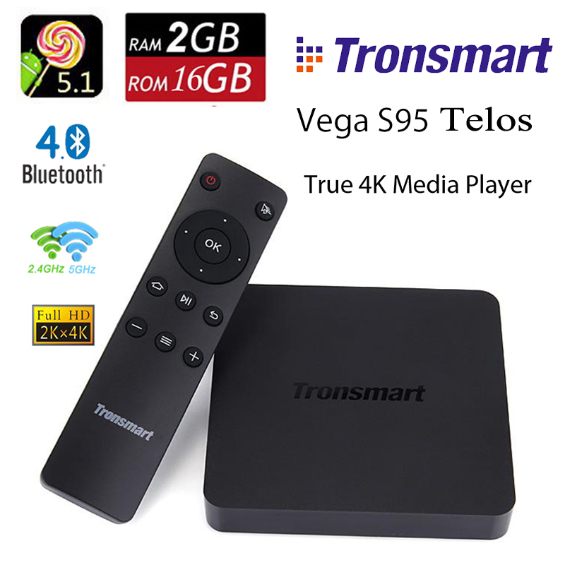 DHL Tronsmart Vega S95 Telos Smart TV Box Android Lollipop 5.1 Mini PC 2G 16G Amlogic S905 Quad Core Dual Wifi Bluetooth Player<br><br>Aliexpress