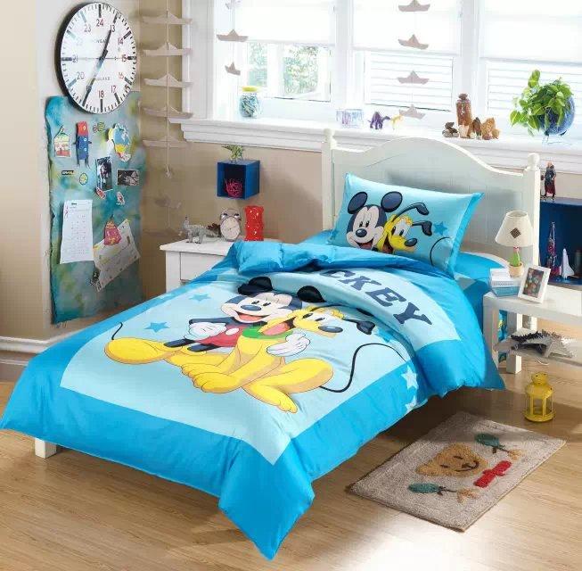 Mickey souris chambre ensembles promotion achetez des - Ensemble draps lit double ...