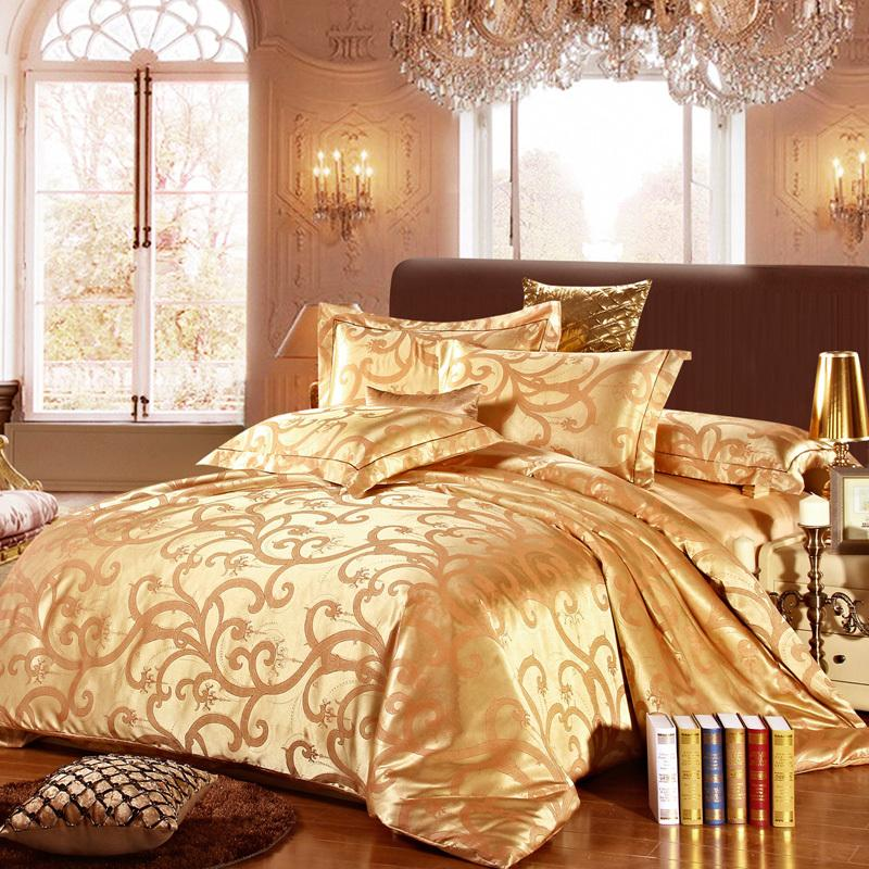 Luxury high grade silk cotton jacquard quality duvet cover for Luxury cotton comforter sets