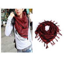 Hot Sale!!! Unisex Women Men Checkered Arab Grid Neck Keffiyeh Palestine Scarf Wrap  65645-65656