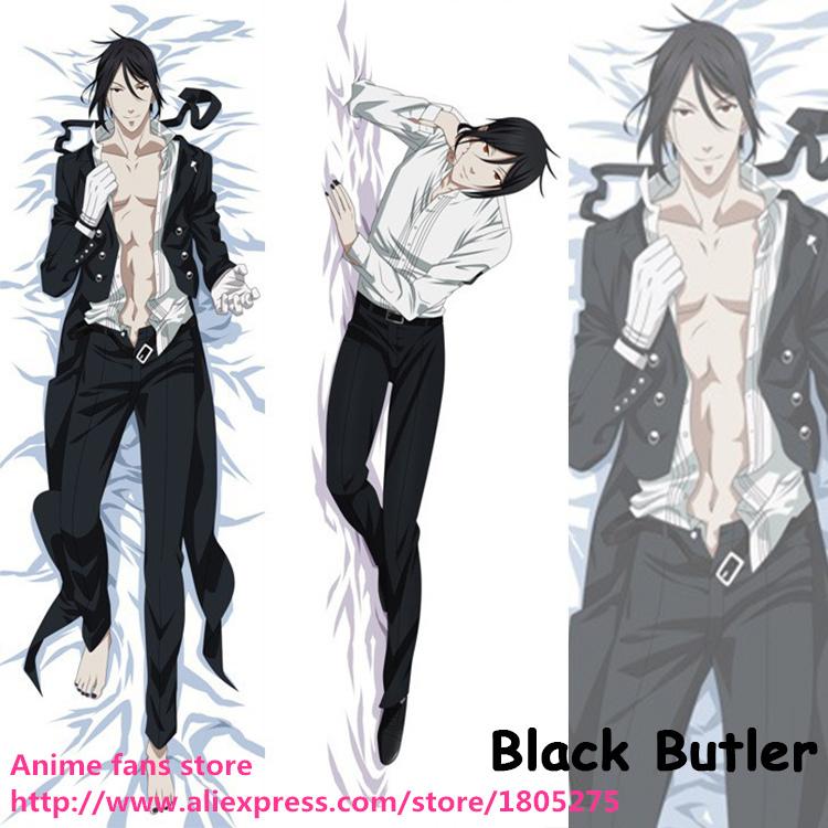 Japanese Anime Black Butler Sebastian Michae Male BL Dakimakura decorative Hugging Body Pillow Case Coshion Cover Bedding