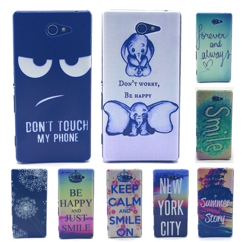 For Sony Xperia M2 S50h Aqua Dual Newest Cute Hard Plastic Back Case Cover Strong Black Painting Tower Happy(China (Mainland))