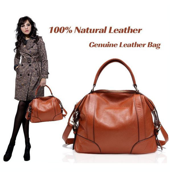 Real Leather Bags! Women Genuine Leather Bags Ladies Designer Vintage Shoulder Bag Women Handbags European and American Style(China (Mainland))