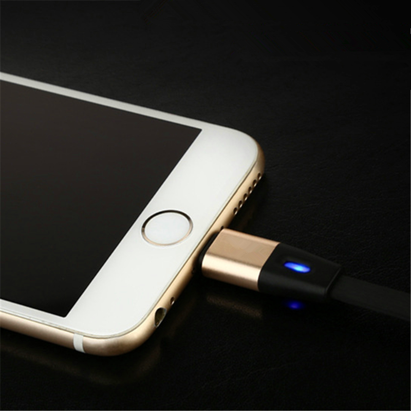 Intelligent Breathing LED Light Fast Charging Cable 8Pin USB Data Sync Charger Wire For iPhone 5 5S 6 6S iPad Air 2 Charge Line(China (Mainland))