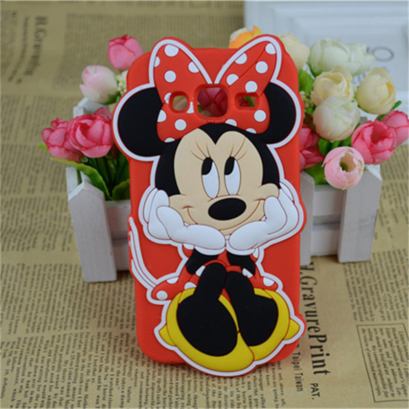 Cute 3D Cartoon Minnie Mickey Mouse Silicone Cases Samsung Galaxy J1 Ace J2 J5 J7 2015 A5 A7 2016 Skin Phone Back Cover  -  Christina's No.1 Store store