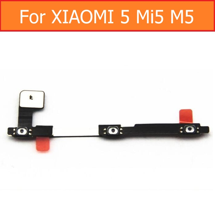 100% Genuine switch on off Power Volume button Flex cable For Xiaomi 5 M5 Mi5 conductive flex with sticker replacement parts