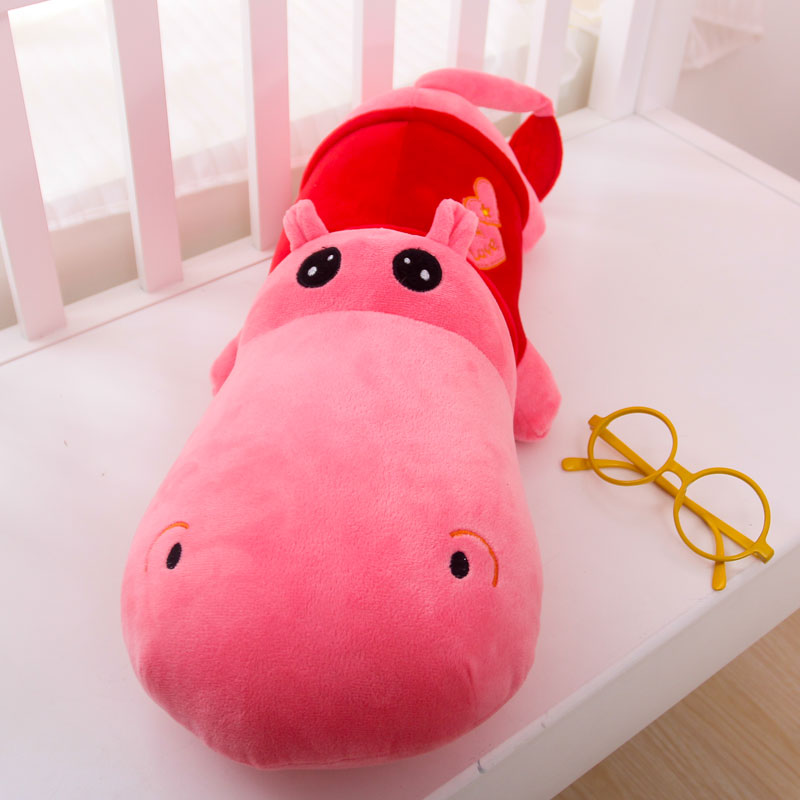 30CM One Piece Hippo Plush Toy Doll Dolls Sleeping Super Soft Pillow Cushions Birthday Gift Valentine Day Presents 6 Colors(China (Mainland))