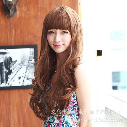Korean manufacturers wholesale wig big wave scroll fluffy repair face zileuton sea curls fashion girls Outlet(China (Mainland))