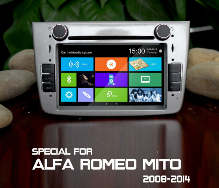Car autoradio 2 din gps for alfa mito 2008+,alfa romeo mito car gps navigation system,car dvd gps for alfa romeo mito 2008+(China (Mainland))