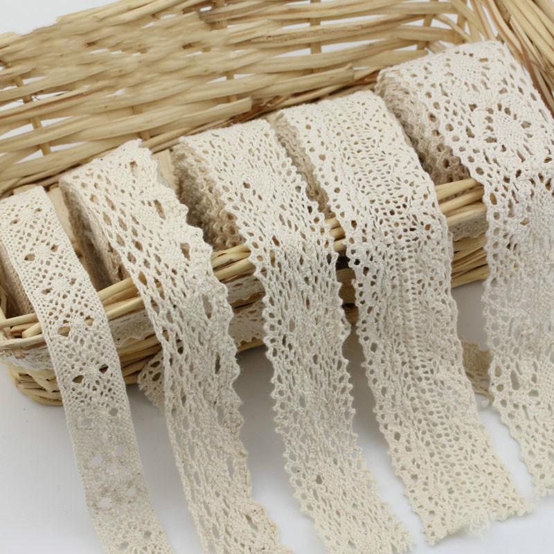 Гаджет  10 yard/ lot 100% cotton 1-3cm width Lace for fabric/home furnishing warp knitting DIY Garment Accessories free shipping None Дом и Сад