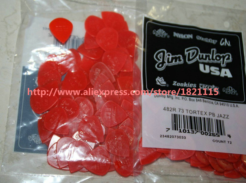 72 pieces Jazz III Guitar Picks Red picks Wholesale high quality free shipping(China (Mainland))