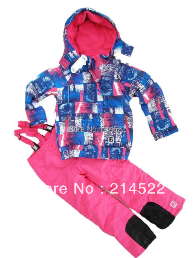 free shipping children ski suits girl's ski jackets+pant children winter snow suit outdoor wear children ski winter sets(China (Mainland))
