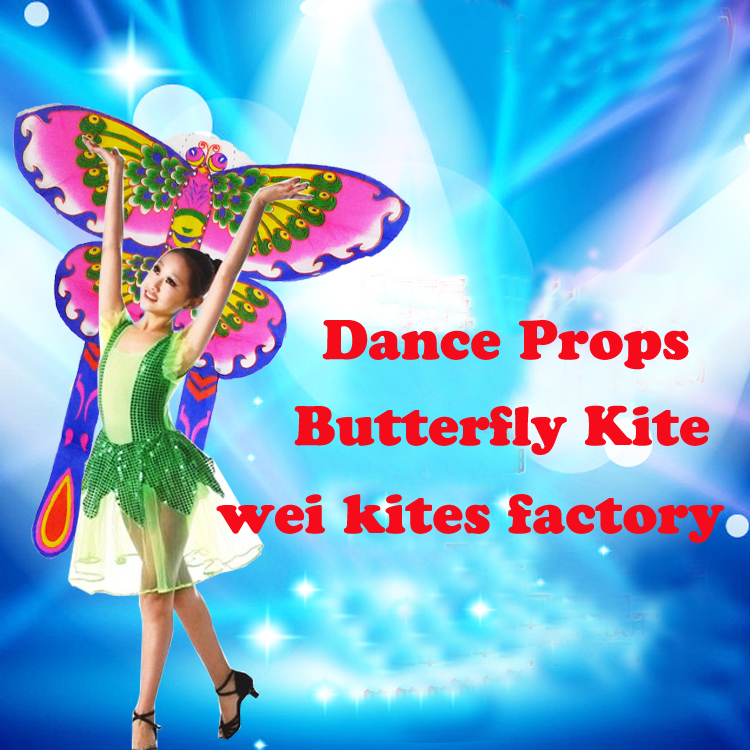 High quality large dance props butterfly kite so pretty in the stage suit for 3-10 years childs can not fly kite free shipping(China (Mainland))
