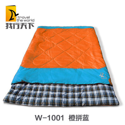 The new triple double spring and winter lovers thick cotton sleeping bags outdoor camping adult sleeping bag to keep warm
